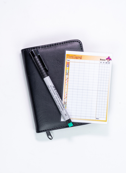 dotcard-reiskit-scoreblad-pen-mapje-dotten