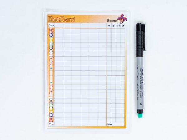 scoreblad-dotcard-dotten-kopen-inclusief-stift